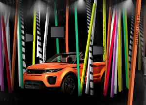 Wiederverkaufswert | Range Rover Evoque Cabriolet im bunten Pop-up Store | autoreparaturen.de