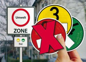 Die Normen werden strenger: Die einfahrt in diese Umweltzone ist nur für Fahrzeuge der Schadstoffklasse Euro 3 und besser erlaubt. 1 und 2 müssen draußen bleiben.